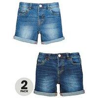 Mini V by Very Boys 2 Pack Denim Short, Denim, Size Age: 2-3 Years