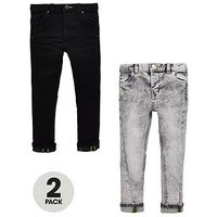 Mini V by Very Boys 2 Pack Skinny Jeans, Denim, Size Age: 6-9 Months