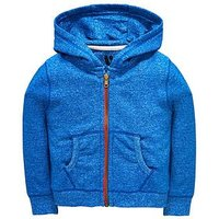 Mini V by Very Boys Zip Through Hoody, Blue, Size Age: 3-6 Months