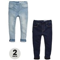 Mini V by Very Girls 2 Pack Jeggings, Denim, Size Age: 9-12 Months, Women