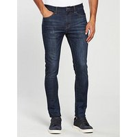 V by Very Skinny Fit Jean, Dark Vintage, Size 34, Inside Leg Regular, Men