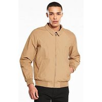 Jack & Jones Jack & Jones Originals Pacific Harrington Jacket, Stone, Size S, Men