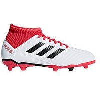 adidas Adidas Junior PREDATOR 18.3 Firm Ground Football Boots, White, Size 4