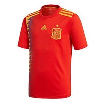 Boys, adidas Adidas Junior Home Spain 2018 World Cup Replica Shirt, Red, Size 11-12 Years