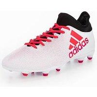 adidas X 17.3 Firm Ground Football Boots, Grey, Size 10, Men