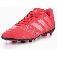 adidas Adidas Junior Nemeziz 17.4 Firm Ground Football Boot, Coral, Size 5