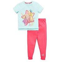 Character Jojo Siwa Girls Short Sleeve Pyjamas, Multi, Size Age: 7-8 Years, Women