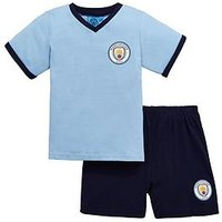 Boys, Manchester City Manchester City Shorty Football Pyjamas Set, Multi, Size Age: 9-10 Years
