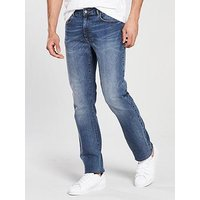 V by Very Straight Fit Jean - Mid Wash , Midwash, Size 40, Inside Leg Long, Men