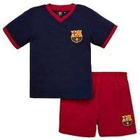 Boys, Barcelona FC Barcelona Shorty Football Pyjamas Set, Multi, Size Age: 3-4 Years