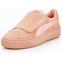 Puma Platform Strap Satin En Pointe - Pink , Pink, Size 8, Women