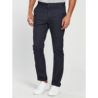 V by Very Slim Fit Stretch Chino, Navy, Size 36, Inside Leg Long, Men
