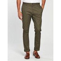 V by Very Slim Fit Stretch Chino - Khaki , Khaki, Size 36, Inside Leg Regular, Men