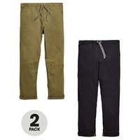 V By Very 2 Pack Pull On Trousers