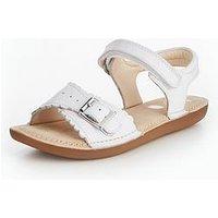 Clarks Ivyblossom Junior Sandal, White, Size 2.5 Older