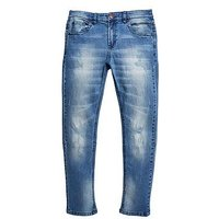V by Very Boys Distressed Jeans, Mid Wash, Size Age: 14 Years