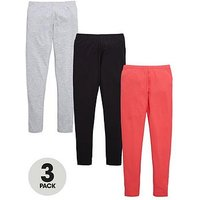 V by Very 3 Pack Multi Coloured Leggings, Multi, Size Age: 15 Years, Women