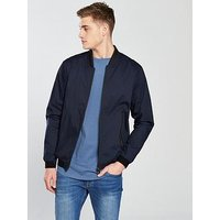 V by Very Tech Bomber Jacket, Dark Navy, Size Xl, Men