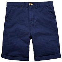 Boys, V by Very Fashion short with turn up, Navy, Size Age: 11 Years