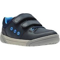 Clarks Tolby Buzz Shoe, Navy, Size 7 Younger