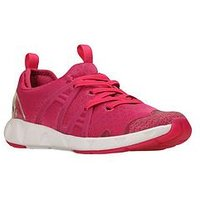 Clarks Luminous Glo Trainer, Raspberry, Size 10 Younger