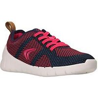 Clarks Sprint Flux Trainer, Navy/Raspberry, Size 7.5 Younger