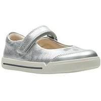Clarks Mini Eden, Silver, Size 9.5 Younger