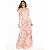 V by Very Bridesmaid Lace Maxi Dress - Blush Pink, Blush Pink, Size 24, Women