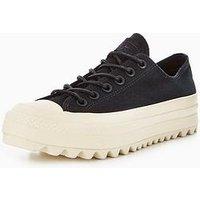 Converse Chuck Taylor All Star Lift Ripple Platform, Black/White, Size 7, Women