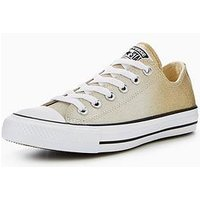 Converse Chuck Taylor All Star Ombre Metallic Ox, Gold/Silver, Size 8, Women