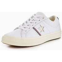 Converse One Star Piping Pack Leather Ox, White/Red, Size 11, Women