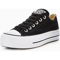 Converse Chuck Taylor All Star Lift Platform Ox, Black, Size 8, Women