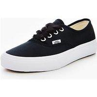Vans UA Authentic Satin Lux - Black , Black, Size 4, Women