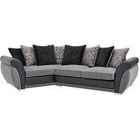 Hilton Angled Left-Hand Fabric Corner Sofa