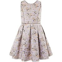 Monsoon Storm Vanezia Jacquard Dress, Bronze, Size 10 Years, Women
