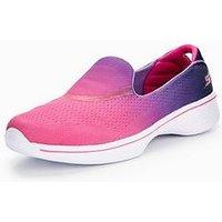Skechers Go Walk Ombre Mesh Slip On, Pink/Purple, Size 2 Older