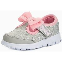 Skechers Girls' Go Walk - Bitty Hearts Shoe, Gray/Pink, Size 7 Younger