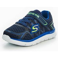 Skechers Boys Skech Lite Trainer, Navy, Size 4 Younger