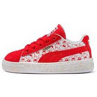 Puma Puma Suede Classic Hello Kitty Childrens Trainer, Pink, Size 1