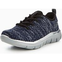 Skechers Boys Flex Advance Trainer, Navy/Grey, Size 12 Younger