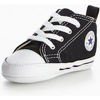 Converse Chuck Taylor All Star First Star Hi Junior Trainer, Black, Size 3