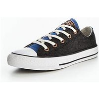 Converse Converse Chuck Taylor All Star Two Color Chambray Ox Childrens Trainer, Black/Tan, Size 10