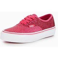 Vans Vans UY Authentic Glitter Childrens Trainer, Pink, Size 6
