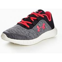 UNDER ARMOUR Mojo Girls Junior Trainer, Grey/Pink, Size 3