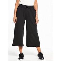 Reebok Classics Wide Leg Crop Pants - Black , Black, Size Xs, Women