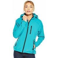 Trespass Bela Softshell Jacket - Aqua, Aqua, Size Xs, Women
