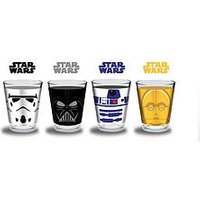 Star Wars Classic Set of 4 Shot Glasses, One Colour, Women
