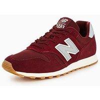 New Balance 373 Trainers, Burgundy/Grey, Size 9, Men