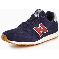 New Balance 373 Trainers, Navy/Red, Size 9, Men