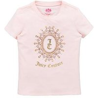 Juicy Couture Girls Starlight Short Sleeve Tee, Pink, Size Age: 2-3 Years, Women